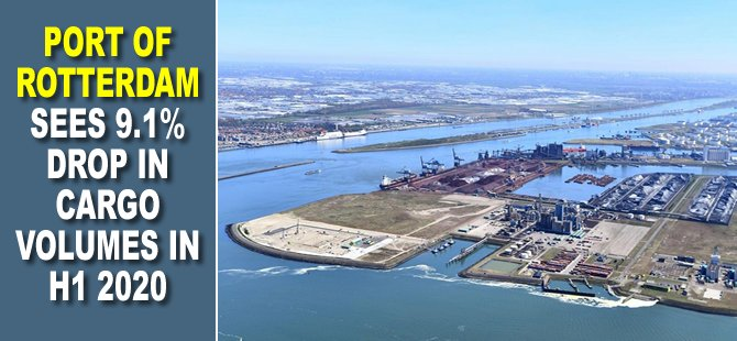 Port of Rotterdam sees 9.1% drop in cargo volumes in H1 2020