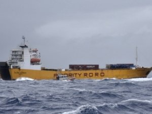 US Coast Guard Responds to Cargo Vessel in Distress in Tropical Storm