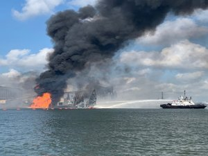 4 Missing After Dredge Hits A Pipeline And Explodes in Corpus Christi