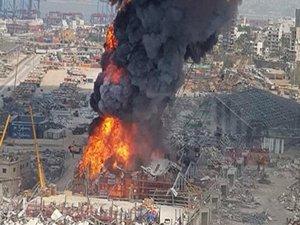 Massive fire erupts at Beirut port, burns food aid parcels