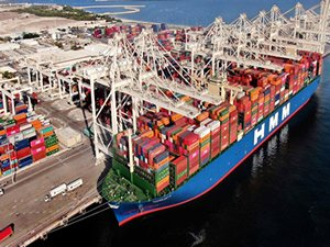 World's largest containership HMM Gdansk calls in Jebel Ali