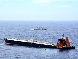 Salvage Team Still Working to Get Burnt-Out VLCC Tanker to Port