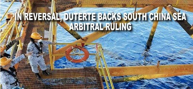 In Reversal, Duterte Backs South China Sea Arbitral Ruling