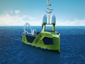 Diesel-electric power for the world's first fleet of robot vessels