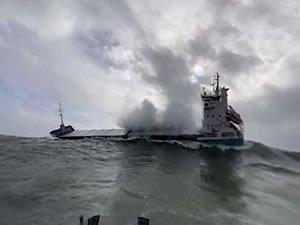 Dramatic Heavy Seas Rescue Off Southeastern Ireland