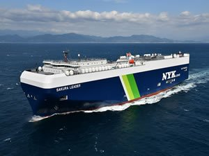 NYK takes delivery of 1st Japan-built LNG-fuelled PCTC