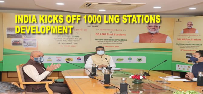 India kicks off 1000 LNG stations development