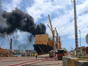 PIL's Kota Bahagia hit by fire in Port of Napier