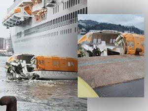 Costa Smeralda Loses Lifeboat in Docking Mishap