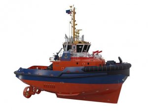 Danish port tug built with hybrid innovation