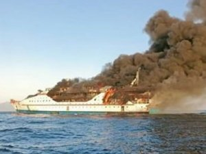 Passenger ship with 200 people on board engulfed by fire, Indonesia