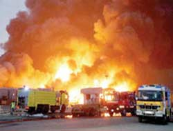 Fire at Jebel Ali Port in Dubai