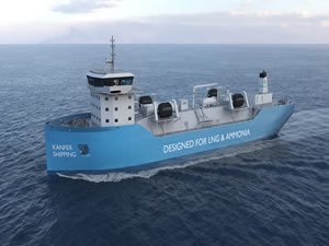 Oceania, Kanfer to build ammonia-ready LNG bunkering vessel