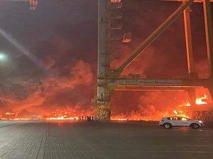 Large Blast Rocks Ship at Jebel Ali Port in Dubai