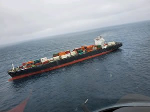 Months After Fire, NYK Delphinus Awaiting Start of Cargo Discharge Operations in Oakland