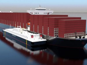 Crowley, Shell to build largest LNG bunker barge in US