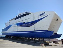 Austal launches 50-knot ferry