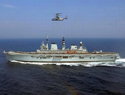 HMS Illustrious home after NATO