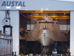 Austal USA launches LCS 2