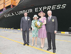 Containership named in Malaysia
