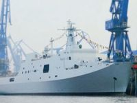 Two Chinese warships docked