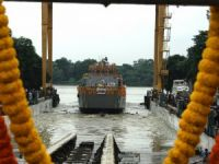 Vice Admiral flags off GRSE-built Landing Craft Utility Ship