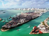 Image of the Day: Miami Port in Emerald Grip