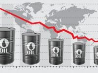Brent oil price lost 5 pct in two days to dip below $57
