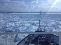 Canadian Icebreaker Working to Free Stuck Cargo Ship
