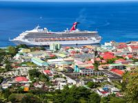 Image of the Day: Carnival Triumph Makes Maiden Call at Dominica