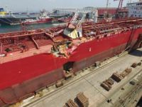 Photos Show Damage to Scorpio Tanker After Collision with Cruise Ship