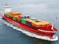 Containership charter rates rising