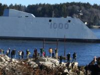 Futuristic Destroyer Heads Out for Sea Trials