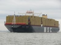 World's largest container ship visits Southampton
