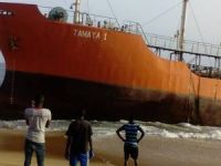 Abandoned Tanker Mysteriously Washes Ashore in Liberia