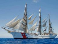 Man Overboard from U.S. Coast Guard Sail Training Ship 'Eagle' in Ireland