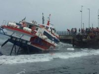 All Safe After Passenger Ferry Becomes Pinned Against Pier in Italy