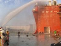 Firefighter injured in blaze at Sembcorp Marine yard
