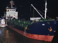 Freighter Eniz ran aground in Dardanelles after hot pursuit with Coast Guard