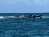 General cargo ship Navemar-XII hit reef and capsized in Brazil