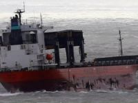 Saga Sky at Anchor after Being Damaged in Storm Angus