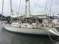 Sailing yacht Pauline af Skanor damaged by fire at the Rodney Bay Marina