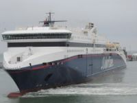 Ro-Ro cargo ship collided with ferry in Denmark
