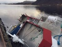 Diesel oil spilled in Norway after fish farm catamaran Fosnakallen sank