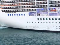 Cruise ship MSC Magnifica damaged in collision with quay at Civitavecchia in Italy