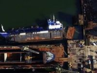Floating dock with tanker Hordafor V capsized at Nauta Repair yard in Poland