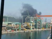 Fire broke out at Geoje shipyard of Samsung Heavy Industries