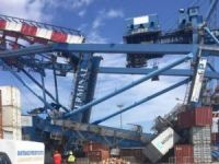 Cosco's general cargo ship Da Zhi collided with container gantry crane at Abidjan port