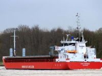 General cargo ship Fast Herman ran aground off Rostock, Germany