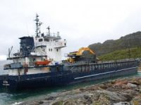 General cargo ship Vitin ran aground off Tonnes, Norway